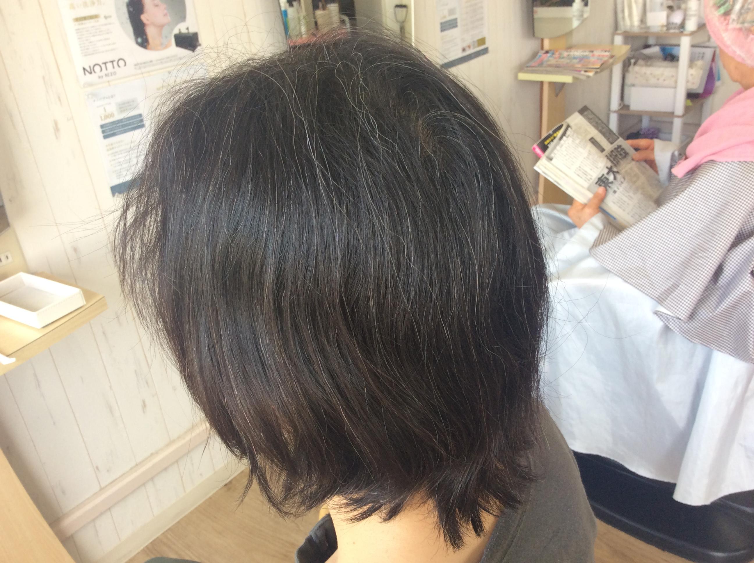 縮毛矯正をやめてくせ毛のためのキュビズムカット