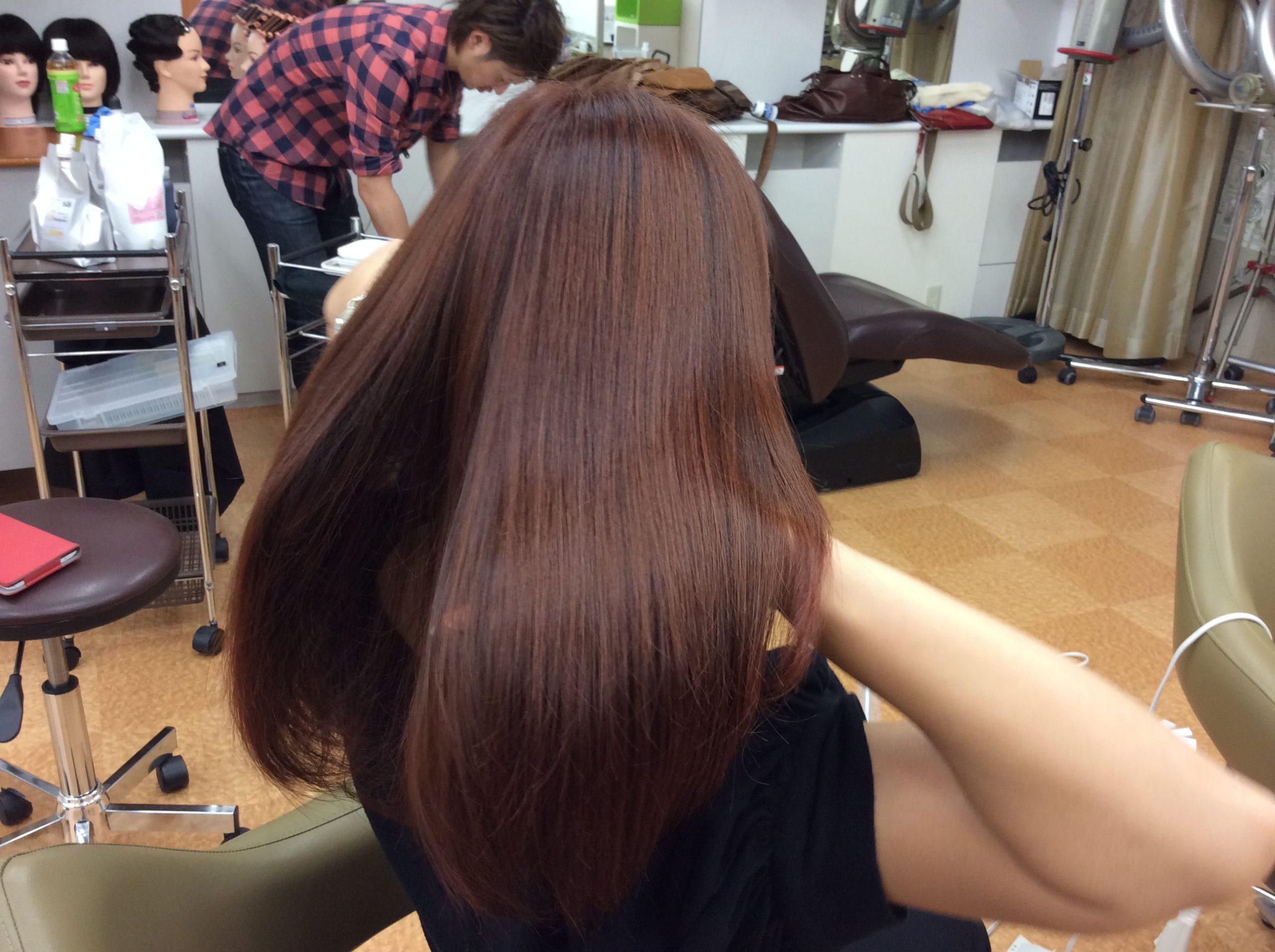 美髪再生カラー