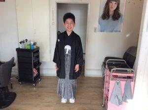 卒業式おめでとうございます!男の子の袴の着付け